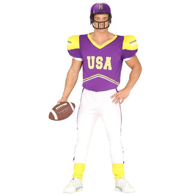 Disfraz de Jugador Fútbol Americano para hombre #disfraces #carnaval #novedades2017
