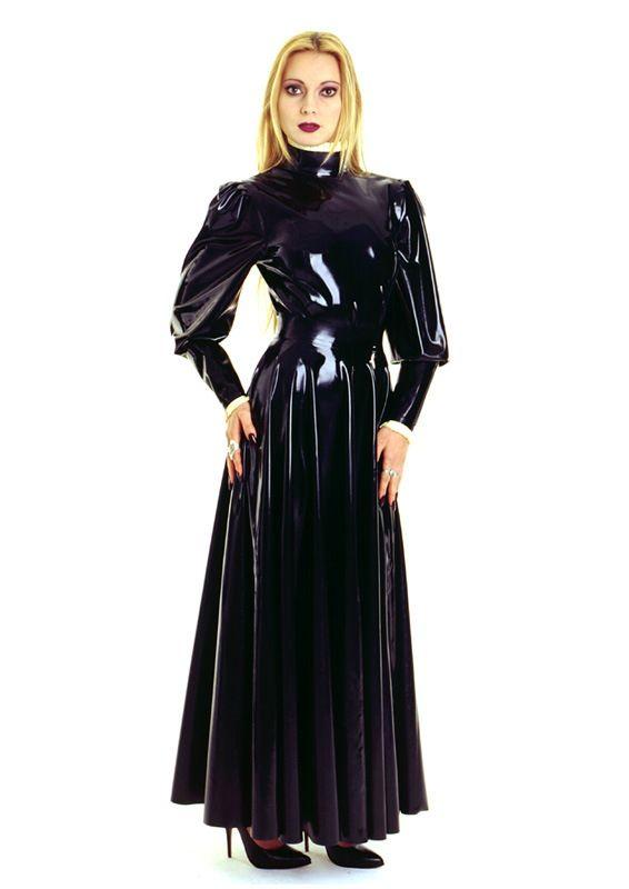 Fully Flared Skirt Ankle Length Latex And Vinyl