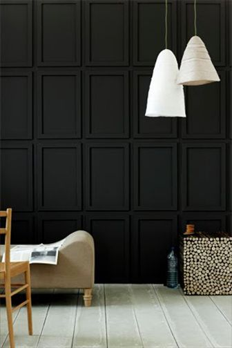 simple frames mounted onto the wall, then paint everything 1 solid color! AMAZING DETAIL!!