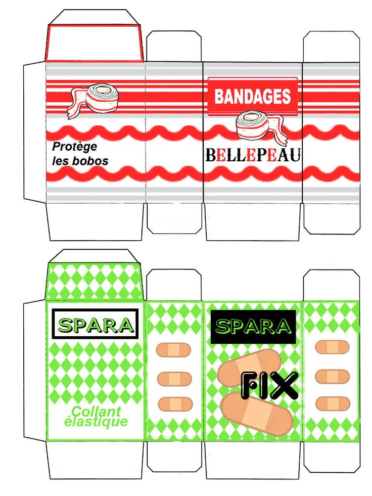 Small Bandage Boxes (free download)