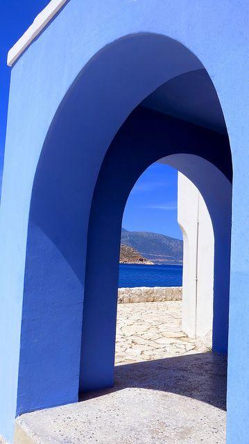 Kastelorizo blue arch, Greec