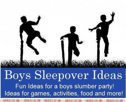 """Boys """"Slumber Party"""" Sleepover Ideas...Click On Picture For Invite & Games Ideas..."""
