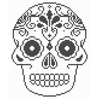 Mimi's Folly: Cross Stitch Skull