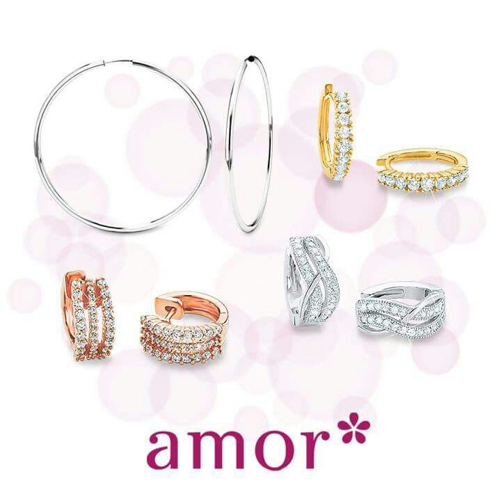 Fine jewellery earrings. Rose gold, gold and sterling silver 925. Available in select Myer stores.  #amoraustralia