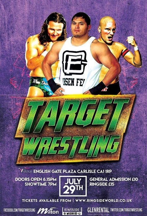 Target Wrestling Live at The Venue Featuring Lucha Underground Superstar Jeff Cobb http://www.cumbriacrack.com/wp-content/uploads/2017/07/19665386_1512139612139653_8241773159701949734_n-1.jpg Target Wrestling returns to The Venue in Carlisle on Saturday 29th July fresh on the heels of their most successful show to date.    http://www.cumbriacrack.com/2017/07/04/target-wrestling-live-venue-featuring-lucha-underground-superstar-jeff-cobb/