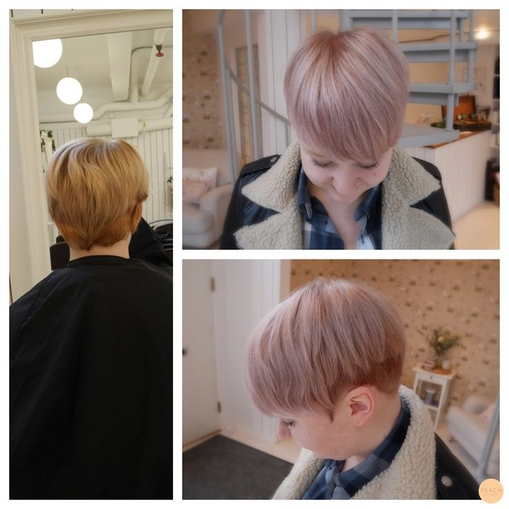 short hair with pastel color
