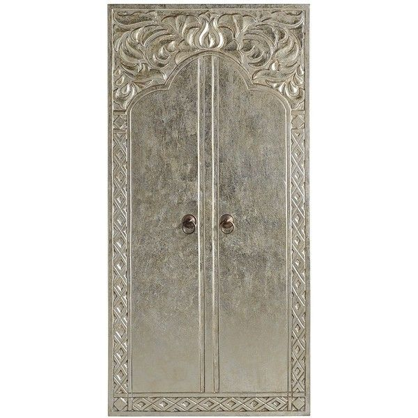 Pier 1 Imports Carved Silver Doors Wall Panel ($90) ❤ liked on Polyvore featuring home, home decor, wall art, doors, decor, silver home decor, pier 1 imports, painted wall art, door wall art and silver wall art