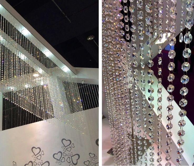 Goedkope Kristal kralen decoratie kralen gordijn blind gordijnen voor raam/deur/keuken/glas fronted billboard/tonen kamer opknoping gordijn, koop Kwaliteit gordijnen rechtstreeks van Leveranciers van China: