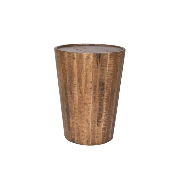 Drum Side Table Natural