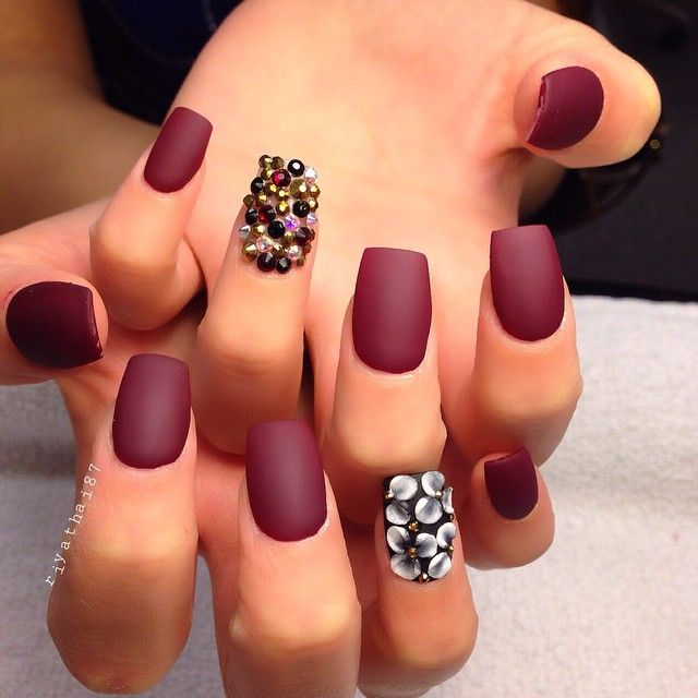 43 best uñas mate images on Pinterest | Matte nails, Chic nails and ...