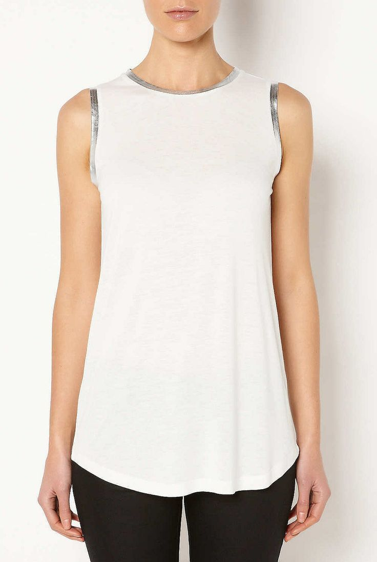 #witcherywishlist Womens Designer Clothing & Fashion Online | Witchery - Foil Trim Tank