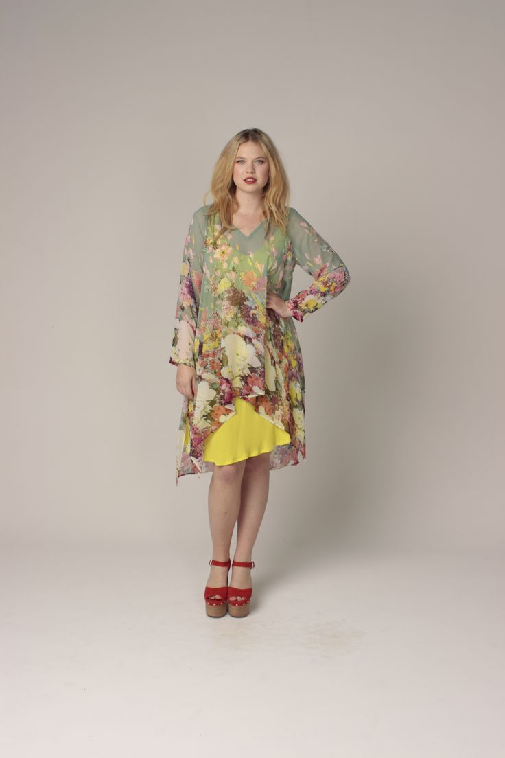 TCD spring 13 - belle tunic and bias slip. curvy summer fashion. size 12 -24