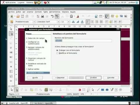 LibreOffice - Base FORMULARIOS E INFORMES