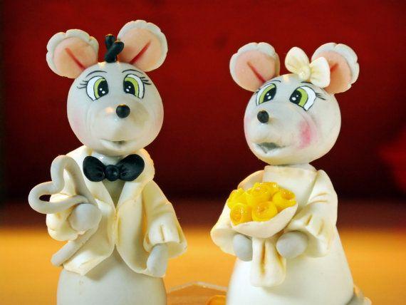 Bella coppia di topi torte di nozze fatta a mano in di elagiftidea