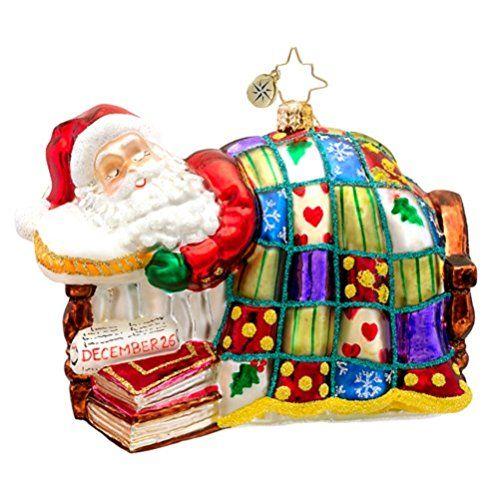 Christopher Radko Santa Ornaments