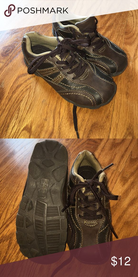 Falls creek boys brown shoes size 12 Falls creek brand shoe.  Brown, size 12.  Worn once for an indoor event only. falls creek Shoes Dress Shoes