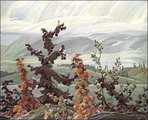 Franklin Carmichael-Group of Seven- Scrub Oaks and Maple