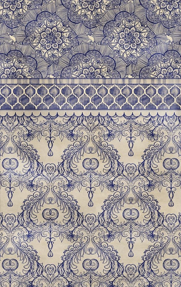 Victorian Dollhouse Wallpaper Color Cut