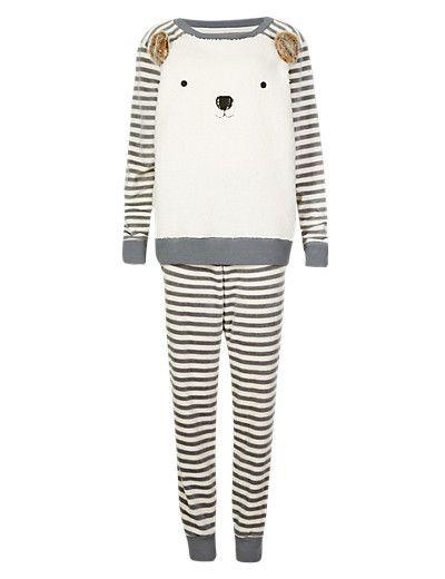 Square Bear & Striped Pyjamas | M&S