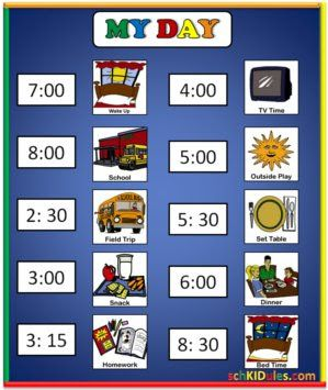 Creating Order in The Home: Daily Schedules