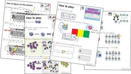 KindergartenWorks: picture directions for math gamesCores Math, Math Center, Math Games, Kindergarten Math, Teaching Math, Common Core Math, Games Galore, Games Ideas, Common Cores