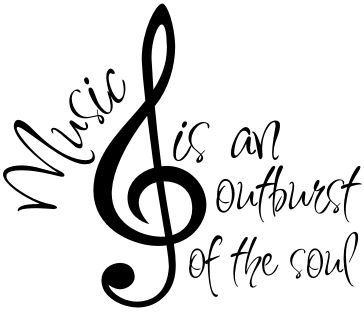 Music Decal Vinyl Wall Art Home Decor Outburst of the Soul Musical Notes
