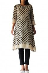 Indian Fashion Designers - Abraham & Thakore - Contemporary Indian Designer Clothes - Dresses - SS14 - S14121 - Embroidered Spotted Dress