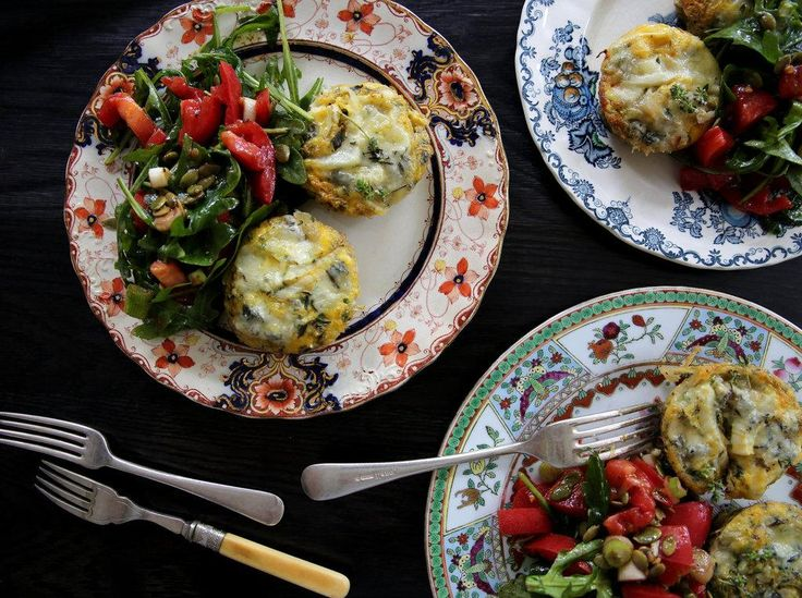 Fennel, Thyme and Blue Cheese Mini Quiches Recipe - Viva