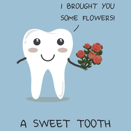 Sweet Tooth pun. A creative dentist pun gift . A punny and funny tshirt, hoodie, mug, laptop/cellphone skin, bag, print, stationary, or sticker. Very cute kawaii pun.