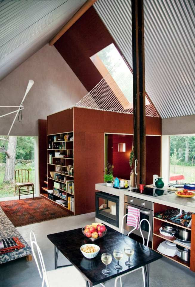 Hamra, a small barn-like vacation house by DinellJohansson [see all 20 images at www.smallhousebliss.com]