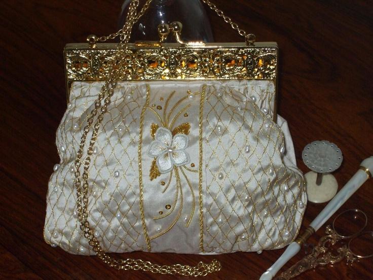Golden Pearls Bag