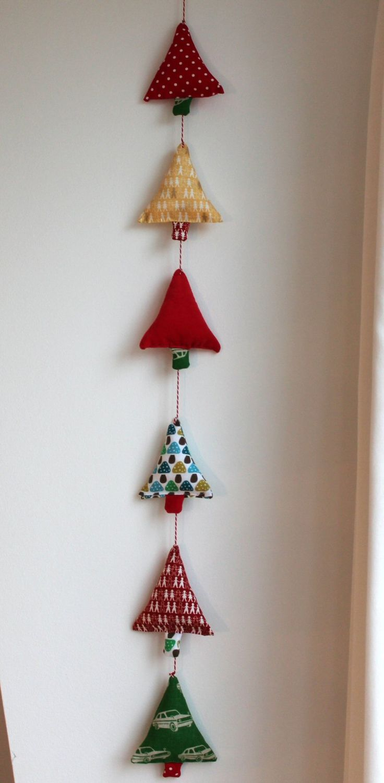 Hjemmelavet julepynt: Juletræer