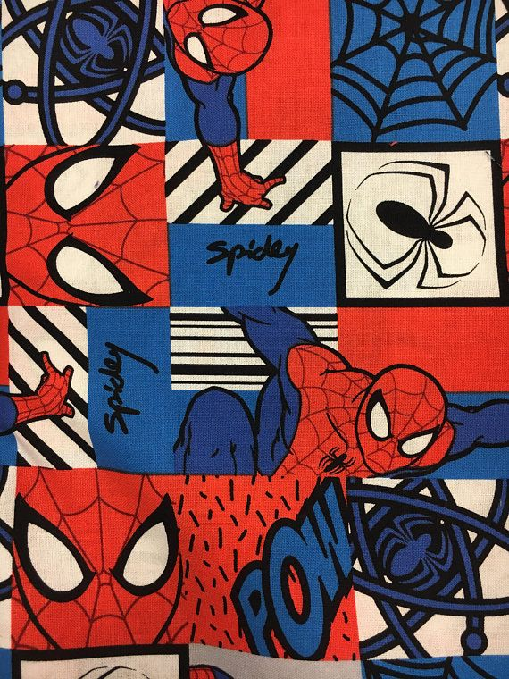 Spiderman fabric Spiderman print Marvel fabric print Spiderman