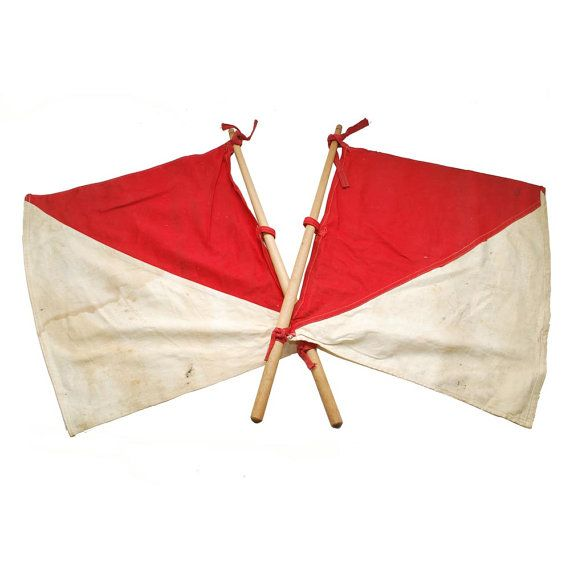 Vintage Signal Flags / Semaphore Vintage Flag / by midmoderngoods