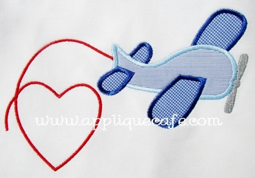 from Applique Cafe- Valentine Airplane