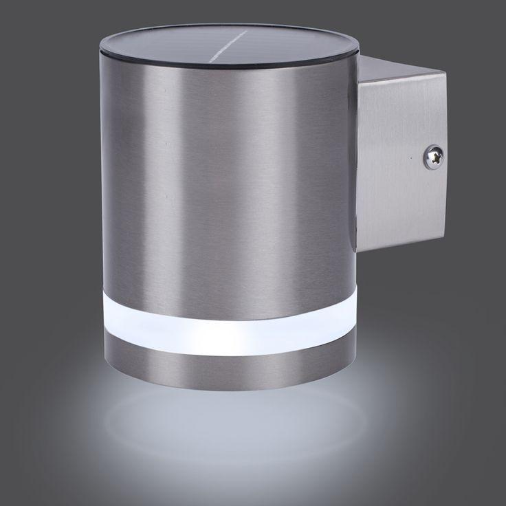 SMARTWARES Solar Wall Light with Sensor 0.5 W Silver GWS-003-DS