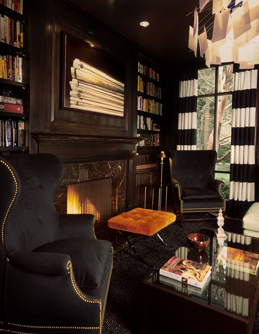 Masculine library room i love books and library rooms for Only books design apartment 8