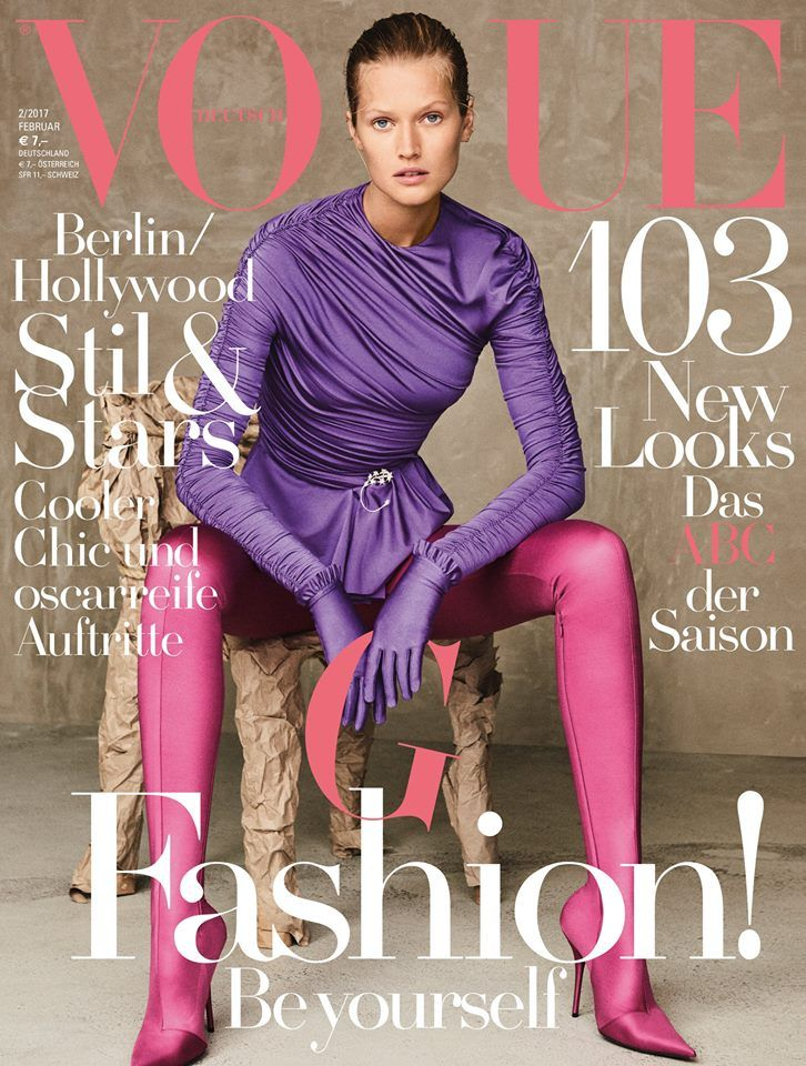 Toni Garrn by Giampaolo Sgura for Vogue Germany February 2017 Cover