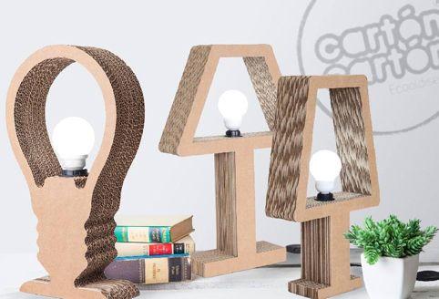 Lámparas  de cartón – OBJECTBIS – DISEÑO ECOLÓGICO CREATIVO