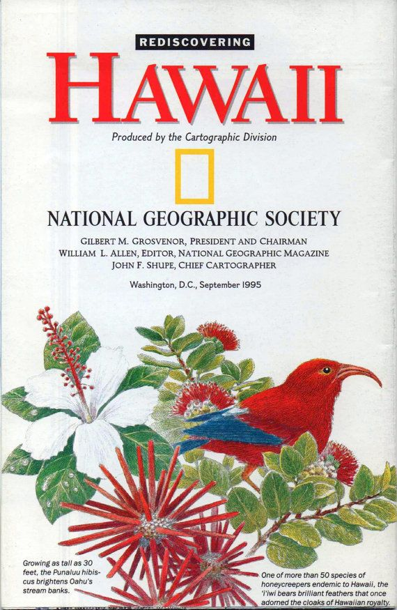 National Geographic Map and Poster Rediscovering Hawaii