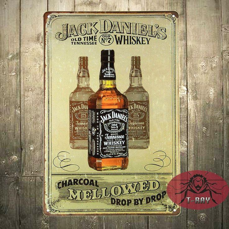 T-Ray Fatto A Mano, whisky Bere Post, Targa in metallo, Bar, Decorazioni per la Casa, Man Cave, Pub A-32