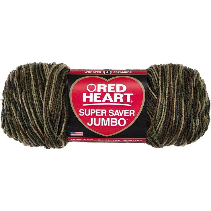 Amazon Com Red Heart E302b 0971 Super Saver Jumbo Yarn