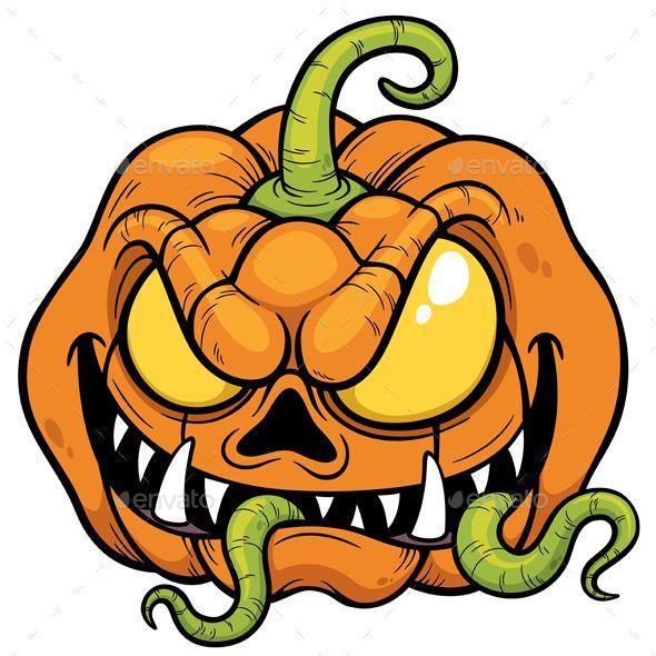 Vector Illustration Of Cartoon Halloween Pumpkin Drawings Art Dibujos De Halloween Halloween Para Colorear Plantillas Graffiti