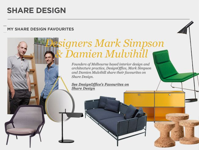 Mark Simpson & Daniel Mulvihill of DesignOffice Share their Favourites   Featured on Sharedesign.com