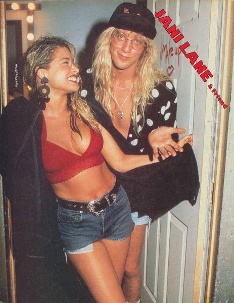 Jani Lane and Bobbie Brown husband and wife.....Jani lead singer R.I.P. rock band Warrant