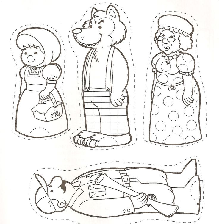 Chapeuzinho Vermelho - Personagensfaire des marionette du petit chaperon rouge
