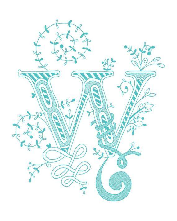 Letter W.
