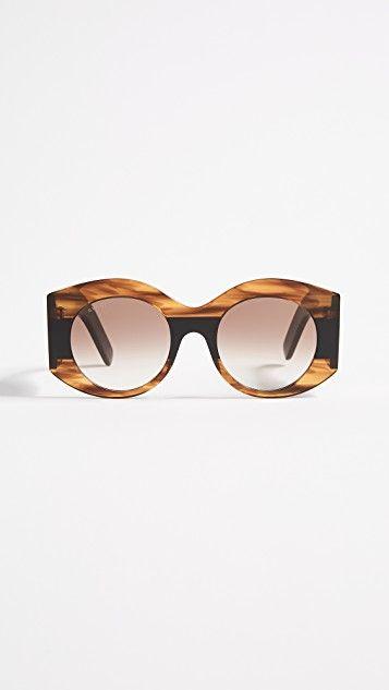 Gucci Urban Pop Web Oval Sunglasses   AED1,675.76