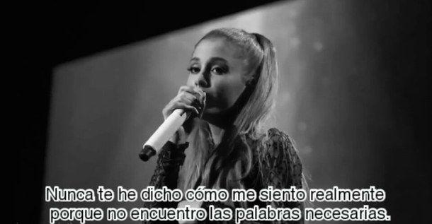 ariana, ariana grande, black and white, frases, frases en español, better left unsaid, frases de canciones, canciones en español