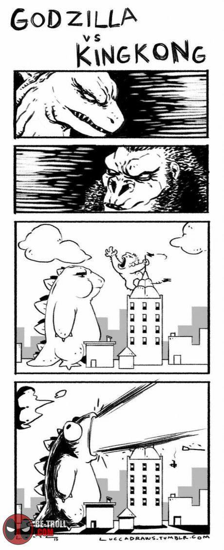 Comment j'imagine le film Godzilla vs King Kong... - Be-troll - vidéos humour, actualité insolite